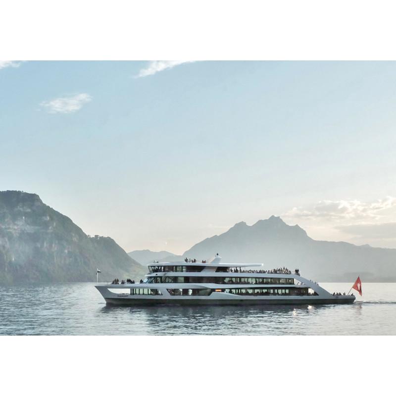 Gutschein  Mittagsschiff-Fahrt 1. Klasse mit Halbtax-Abo