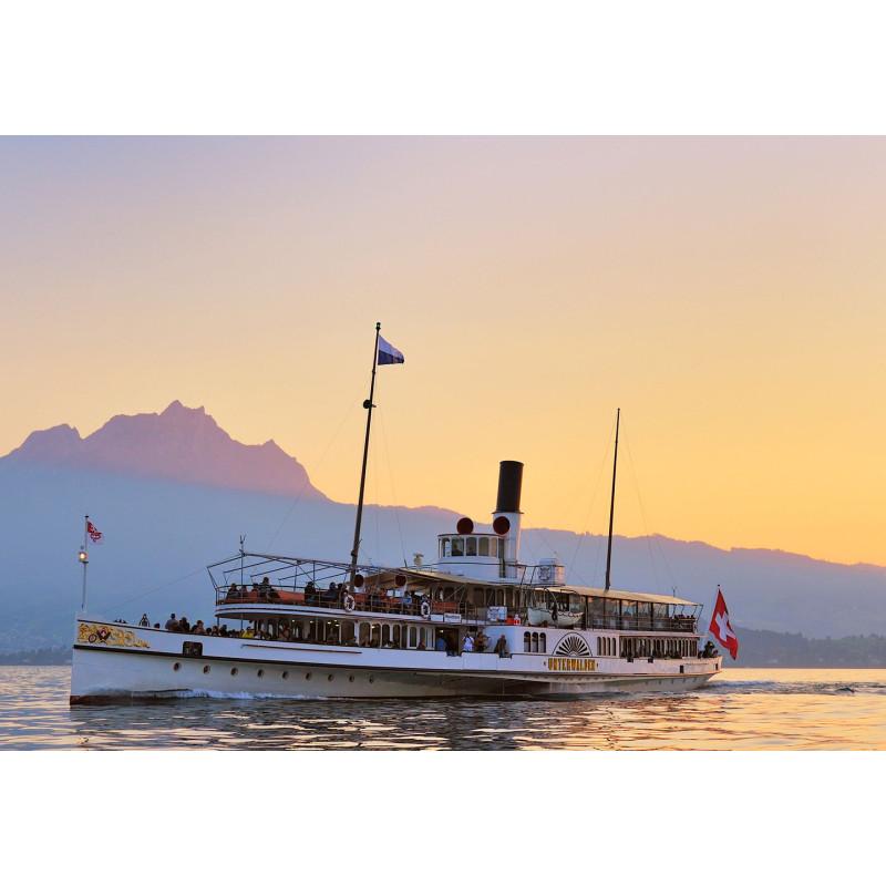 Gutschein Sonnenuntergangs-Fahrt 2. Klasse mit Halbtax-Abo